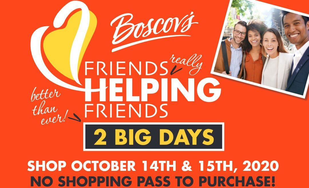 Support CCHS During Boscov's 'Friends Helping Friends' on Oct. 14 & 15